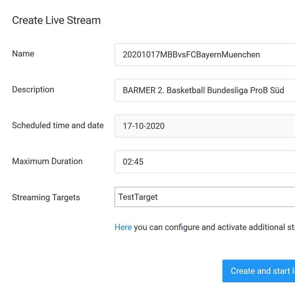 Create Stream